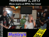 2013-11-02 - Six Five Nine - Hunleys Poster
