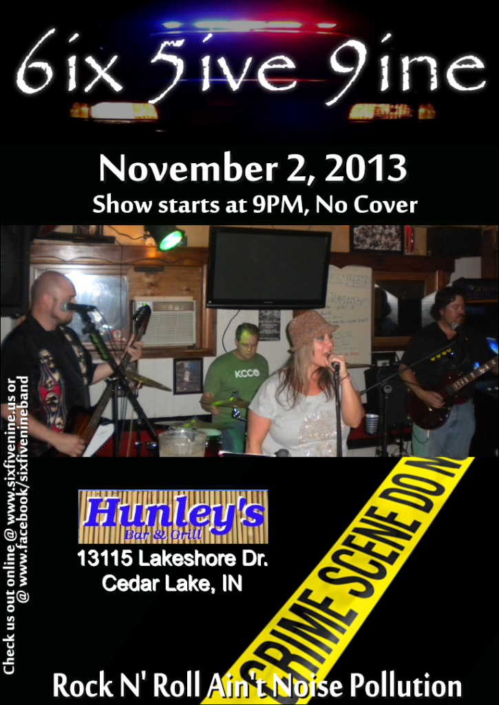 2013-11-02 - Six Five Nine - Hunleys Poster