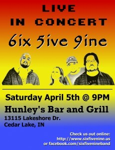 659 Poster - Hunley's 2014-04-05 ver2